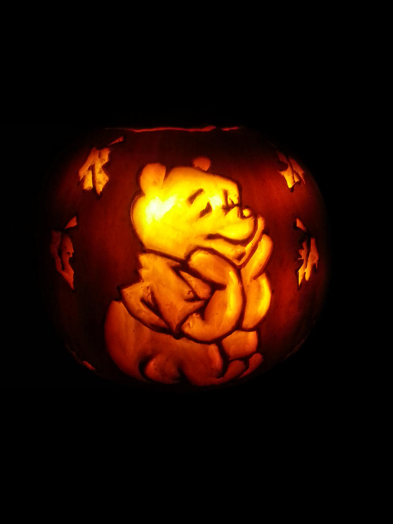 Winnie the pooh pumpkin halloween by shineydays on deviantart for Winnie the pooh pumpkin carving templates