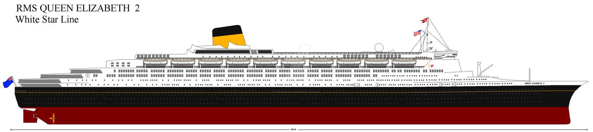 RMS Queen Elizabeth 2 AU by p51cmustang