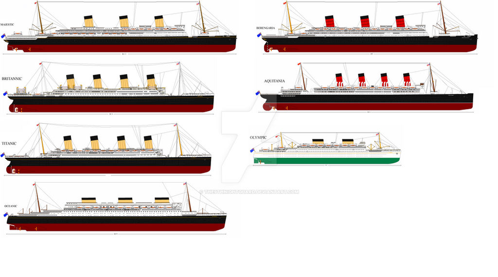 White Star Cunard Fleet 1935 Au By The6thnightguard On