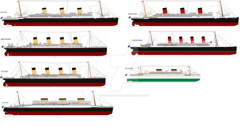White Star Cunard Fleet 1935 Au By The9thnightguard On