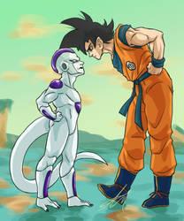 Freeza vs Goku by Areggo