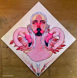 BIRD WOMAN #3 - Flamingo