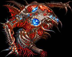 Final Fantasy 4 PSP based art: Zeromus