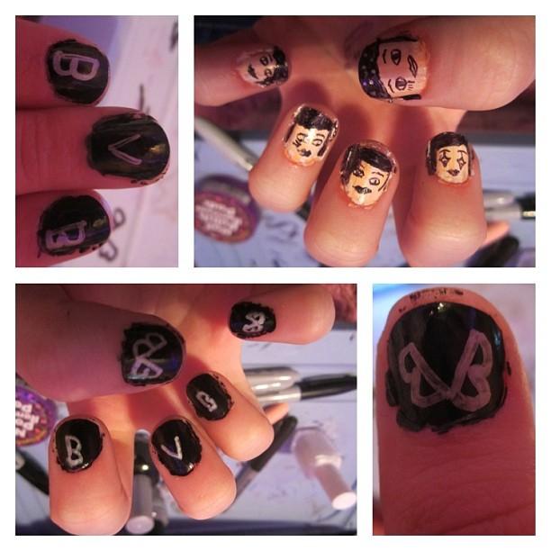 Black Veil Brides Nails by iluvtssatl