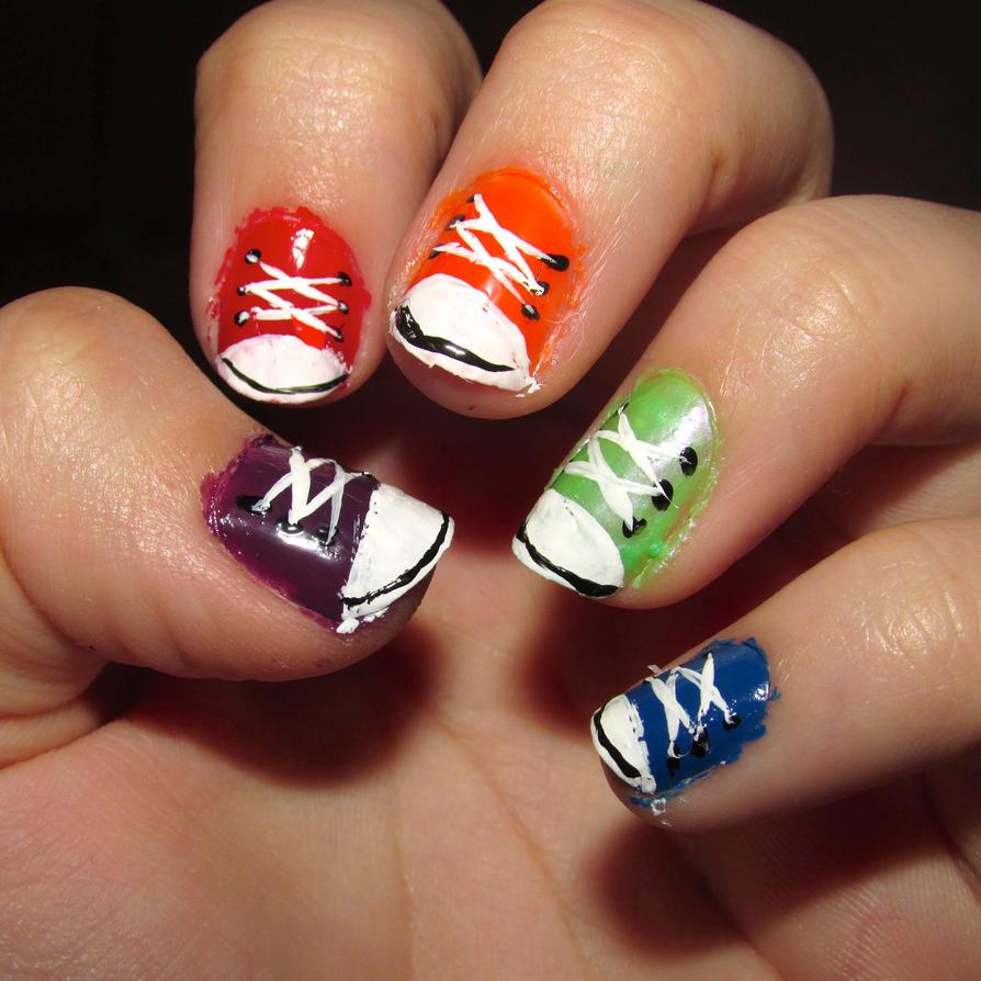 Nail Art Couture Converse Nail Art: Converse Sneaker Nails By Iluvtssatl On DeviantArt