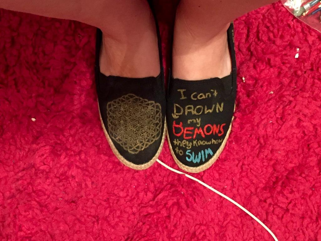 Bring Me The Horizon Sempiternal Shoes by iluvtssatl