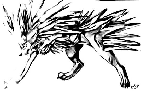 Jolteon Scanned and Blurred