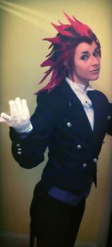 Axel in Sebastian's uniform