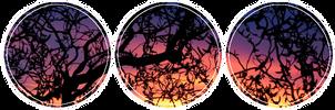 Sunset Tree Divider f2u by saturn-trash