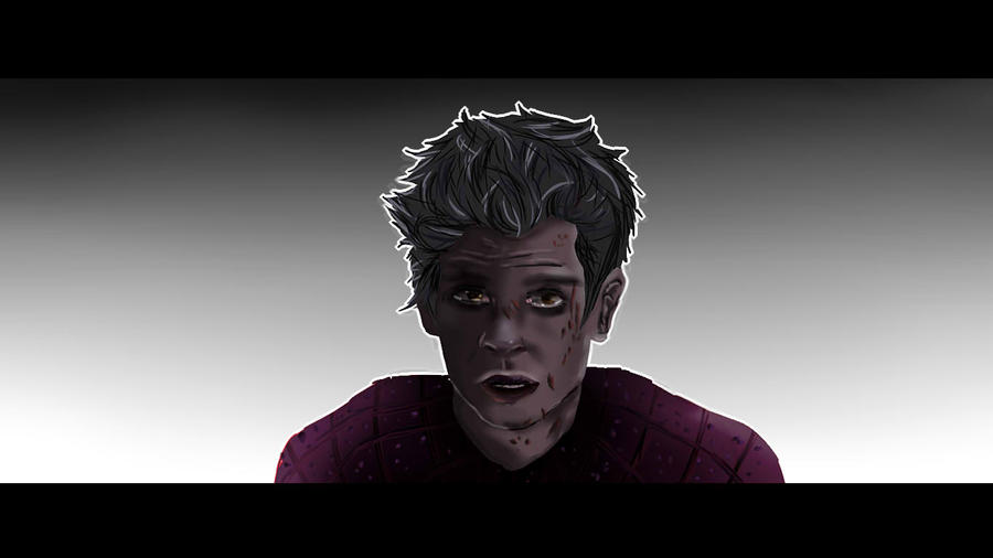 Failed Andrew Garfield - Spiderman Realism Drawing by Yurusen