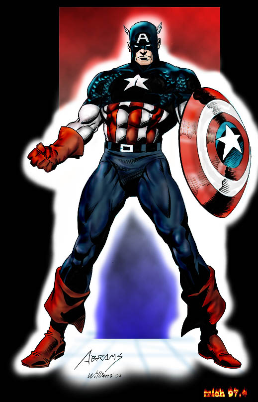capt america color by Mich974