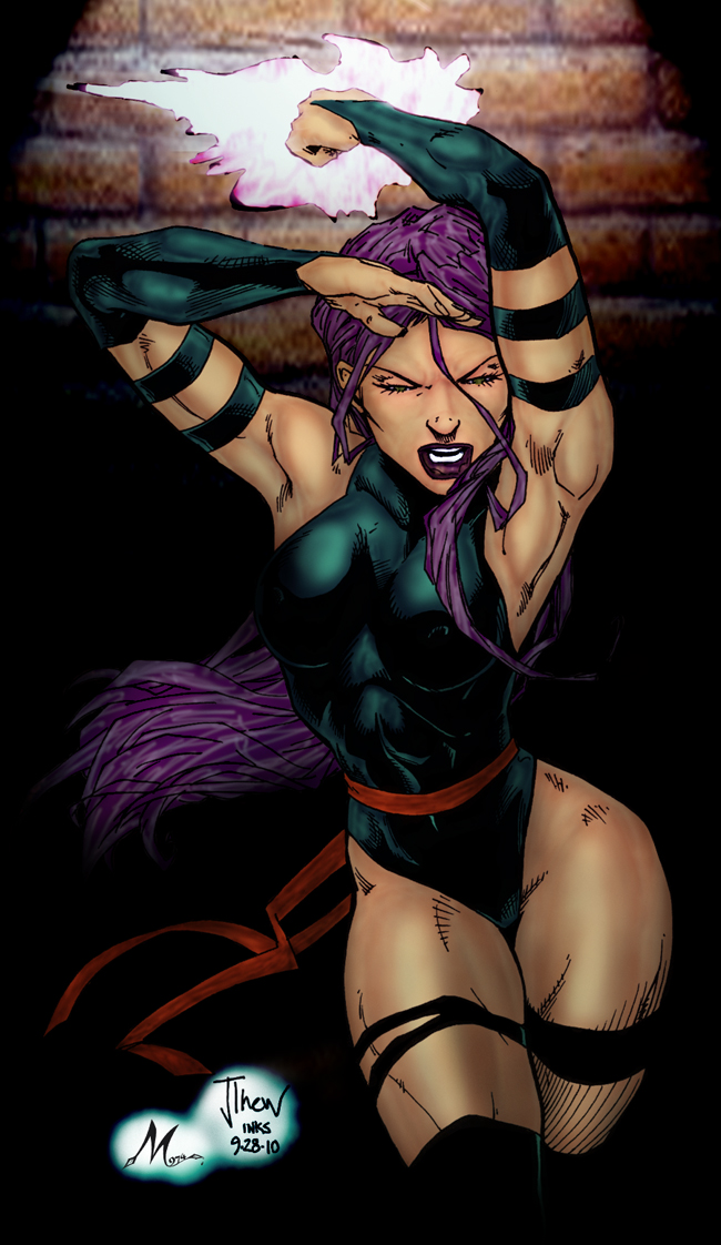 psylocke by jetcomics  color by Mich974