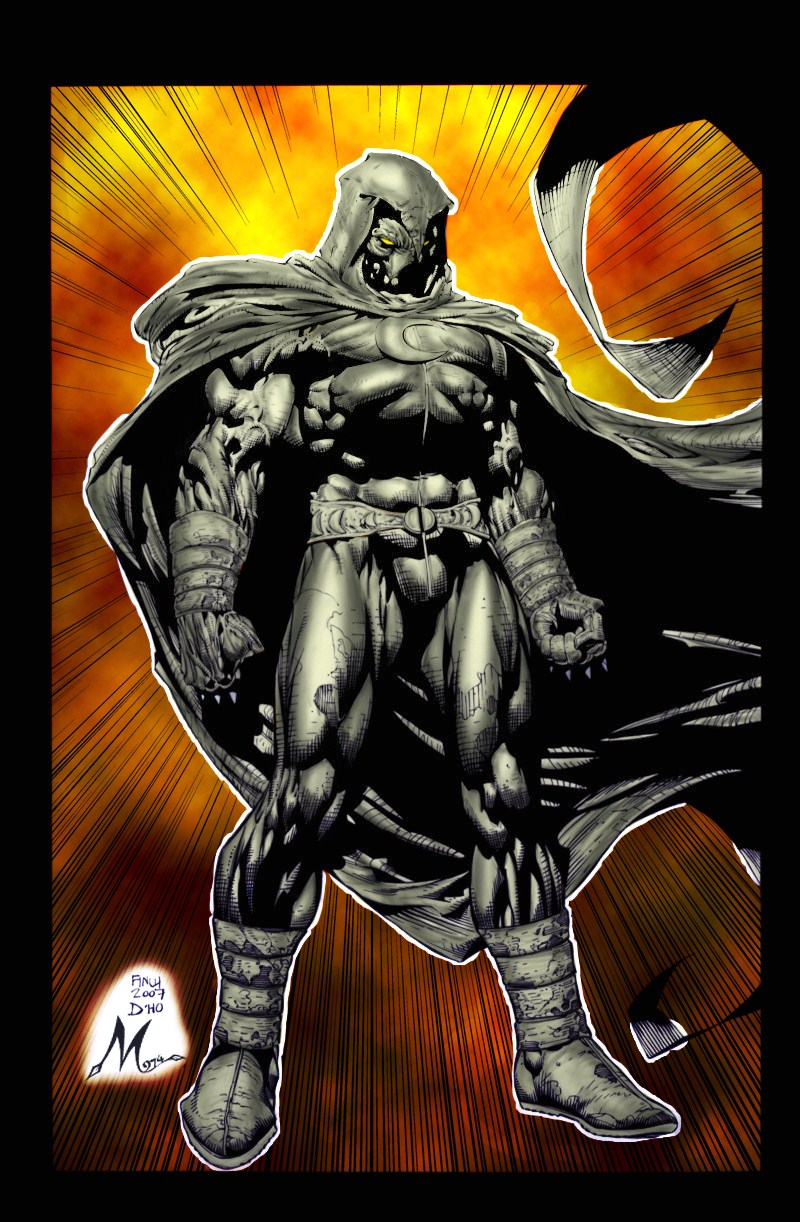 moonknight by finch color by Mich974