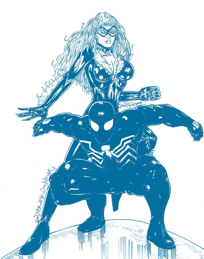 Spiderman et Black Cat by Mich974