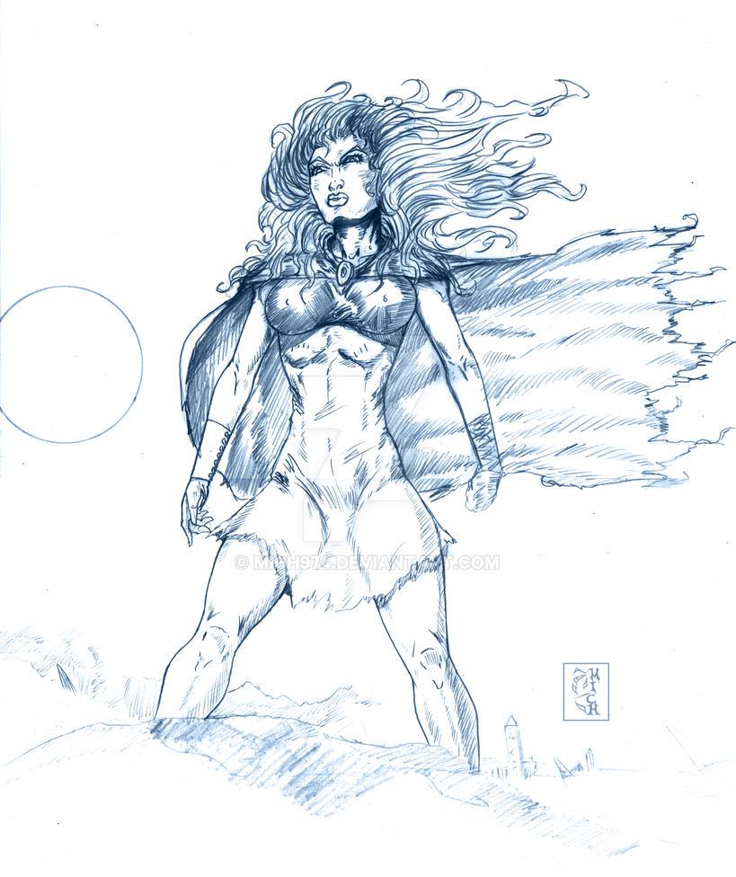 TORNADE  Ororo Munroe ( sketch) by Mich974