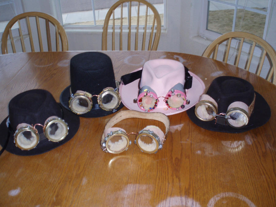 Steampunk goggles or why i can 39 t do crafts alone by for Steampunk arts and crafts