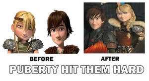 How To Train Your Dragon Before and After. by rozeru-chan
