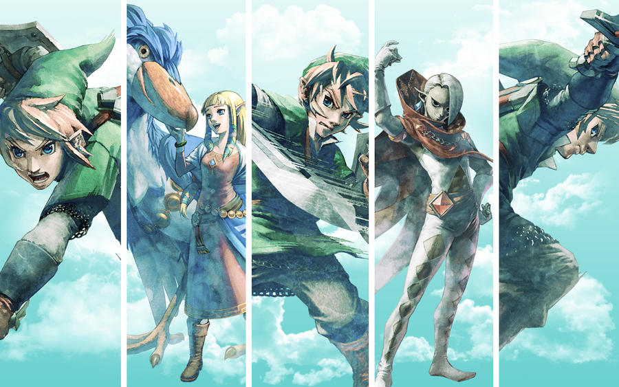 Skyward Sword Wall No Logo by Link-LeoB