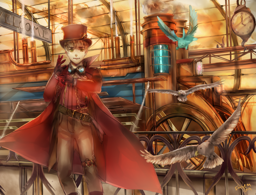 [steamtalia: England] My adventure begins here by Fenrin-kun