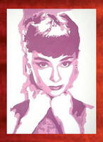 Audrey Hepburn Painting -89.00 by Hodgy-Uk