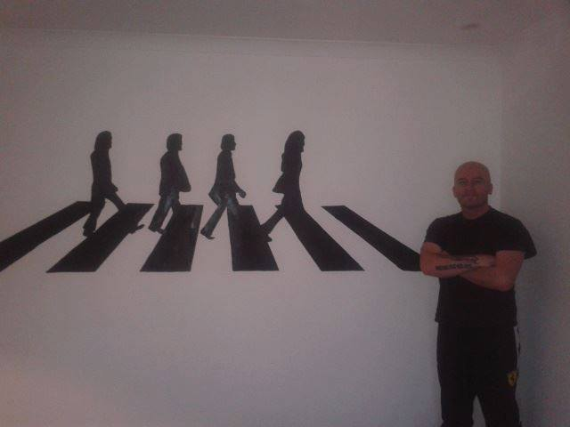 The beatles abbey road wall mural 8ft x 4ft by hodgy uk on for Abbey road wall mural