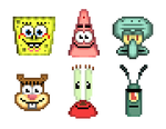SpongeBob and Friends Head Icon (GBA-Styled)