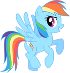Hovering Rainbow Dash