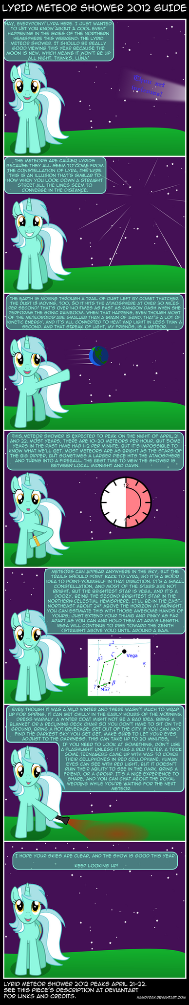 Lyra Explains the Lyrid Meteor Shower by mandydax