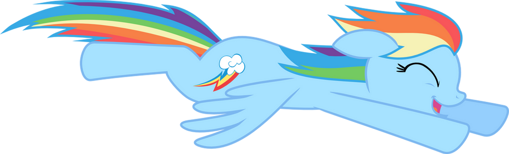 Happy Flying Rainbow Dash By Mandydax
