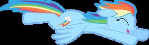 Happy Flying Rainbow Dash