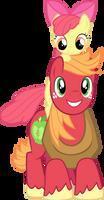 Apple Bloom on Big Mac's Shoulders Vector by mandydax