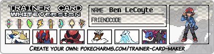 Ben LeCoyte trainer card (Unova old style) by Dragonitemaniac