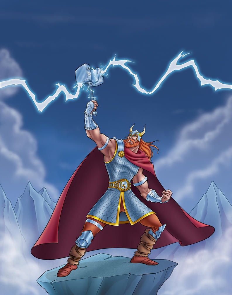 thor god of thunder by bezende on deviantart