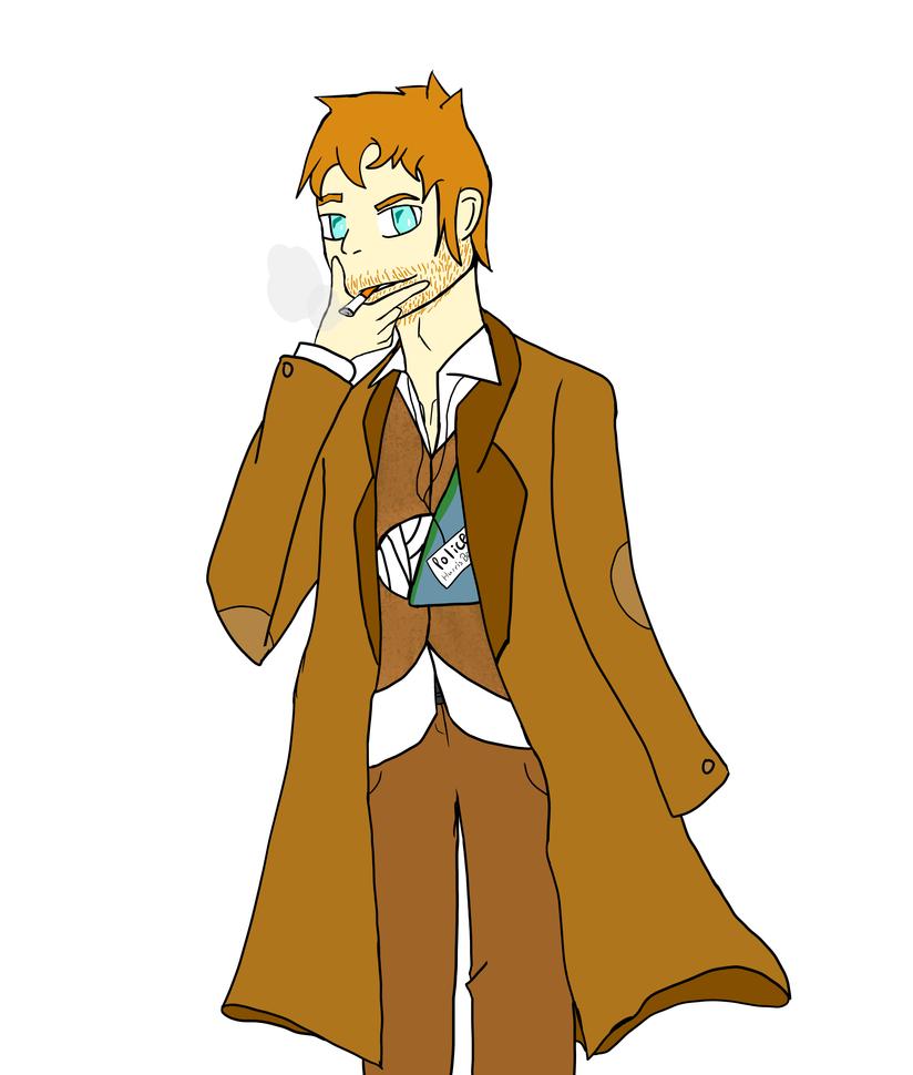 The detective by JuiceboxDraws