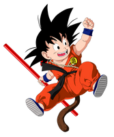 Kid Goku Colored by sebadbz