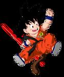 Kid Goku Colored