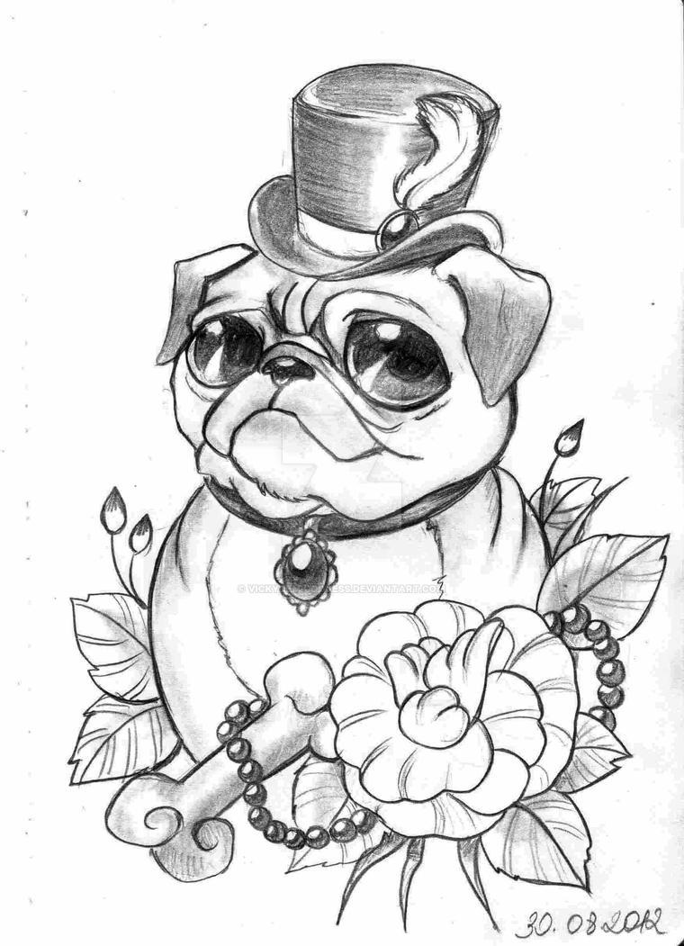 Pug By Vickydemigoddess On Deviantart