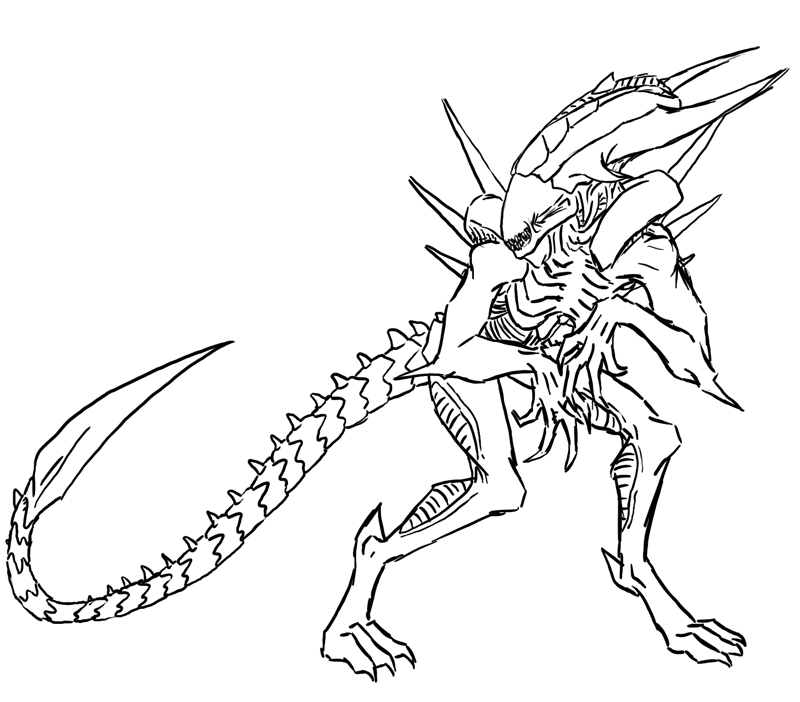 Cereal coloring pages food crafts website for Xenomorph coloring pages