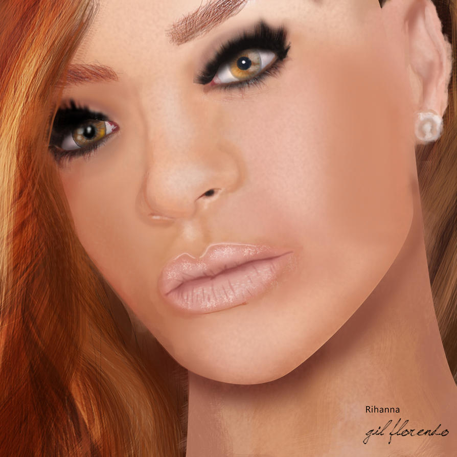 Rihanna by gilflorendo