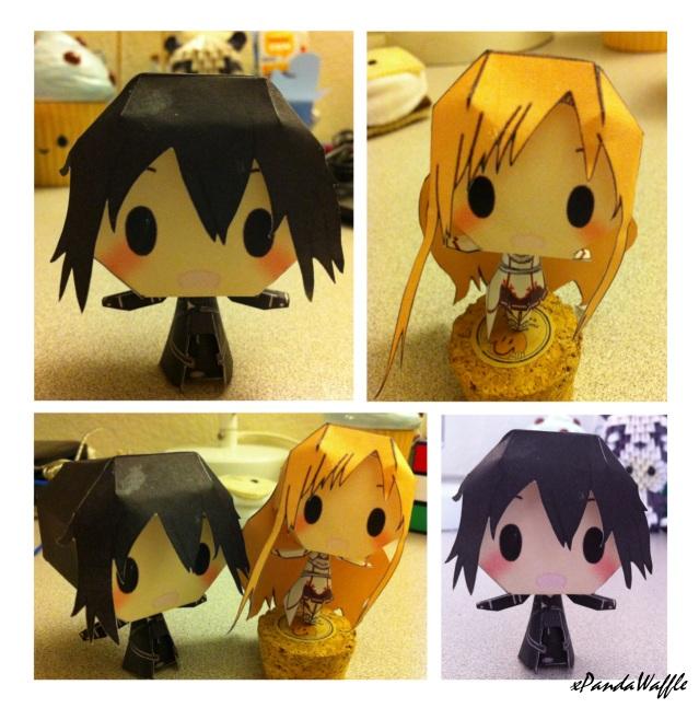 Kirito and Asuna Papercraft by xPandaWaffle