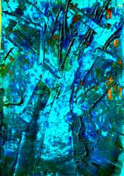 Blue tree by HelaLe