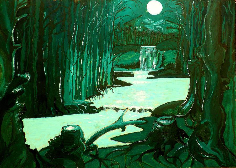 Αποτέλεσμα εικόνας για full moon on the wood