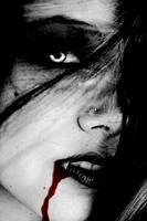 Vampire Ashley-Black and White by VampHunter777