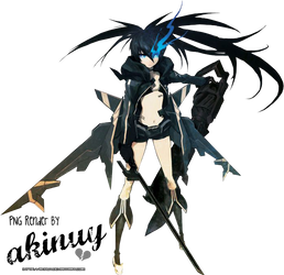 Black Rock Shooter Render by akinuy