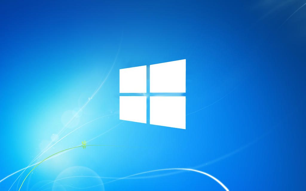 windows 8 logo on windows 7 wallpaper by koleckolp on