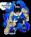 NUzlocke BandW J.A.L. BlueWalker Gijinka