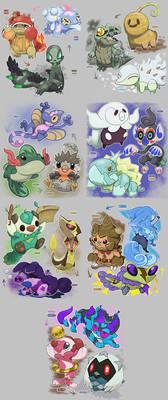 Starter Pokemon Regional Variants
