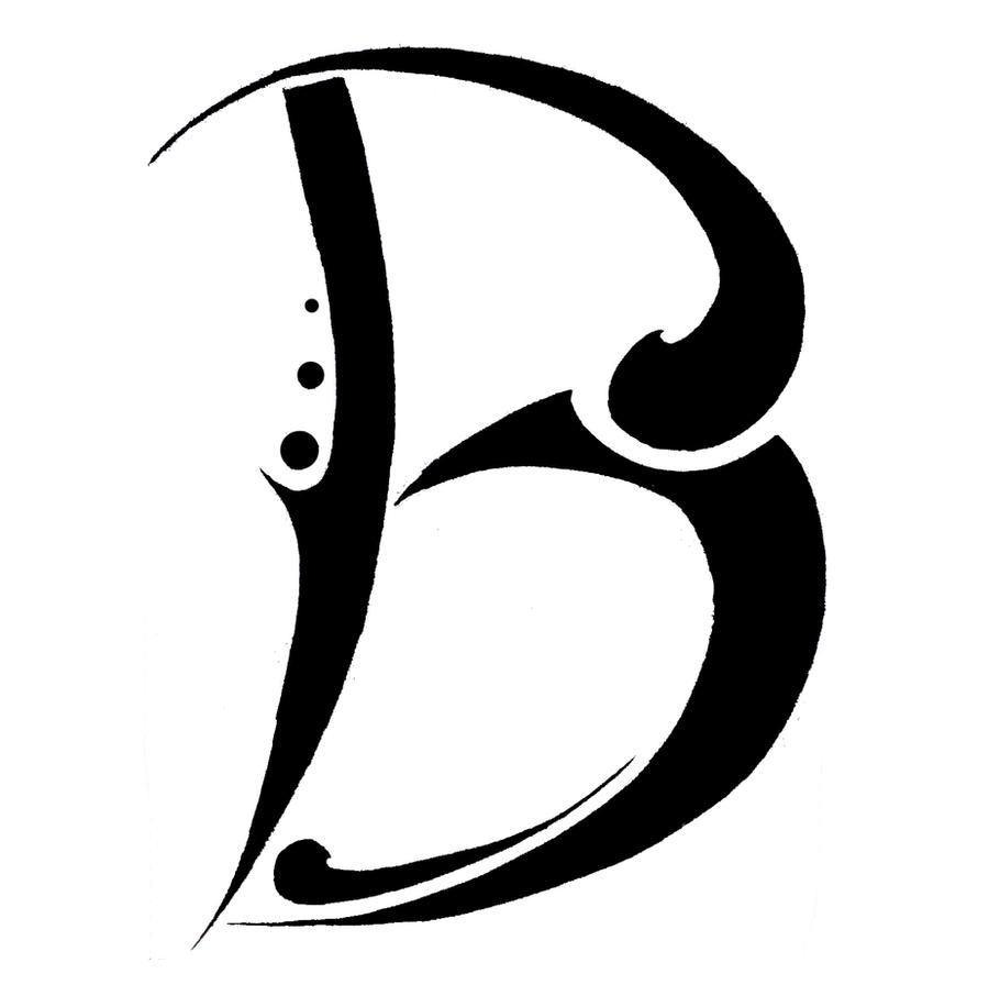 letter b tattoo fonts www pixshark com images galleries with a bite