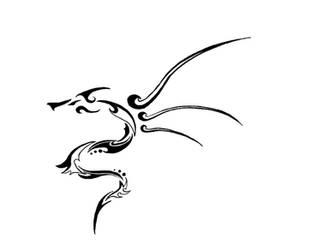Tribal dragon tattoo stuff by Tonfish