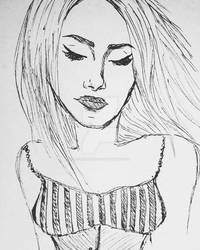 Sketching of Woman  [edited]